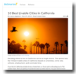 BeSmartee: 10 Best Livable Cities in California