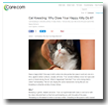 Care.com: Cat Kneading: Why Does Your Happy Kitty Do It?