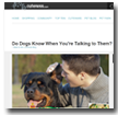 Cuteness: Do Dogs Know When You're Talking to Them?