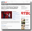GlobalPost: How Do Child Beauty Pageants Affect a Child's Development