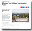 Money: 5 Features That Will Make Your Home Sell Faster