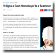 Money: 9 Signs a Cash Homebuyer Is a Scammer